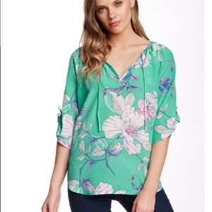 Anthropologie Yumi Kim Floral Print Blouse